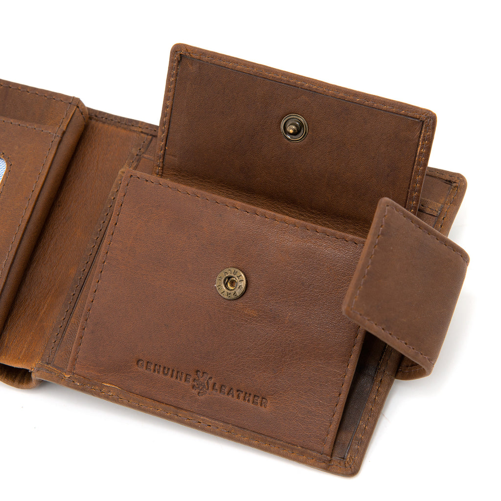 Brown Leather Large Capacity Wallet With Tab By Gryphen -  - Gryphen