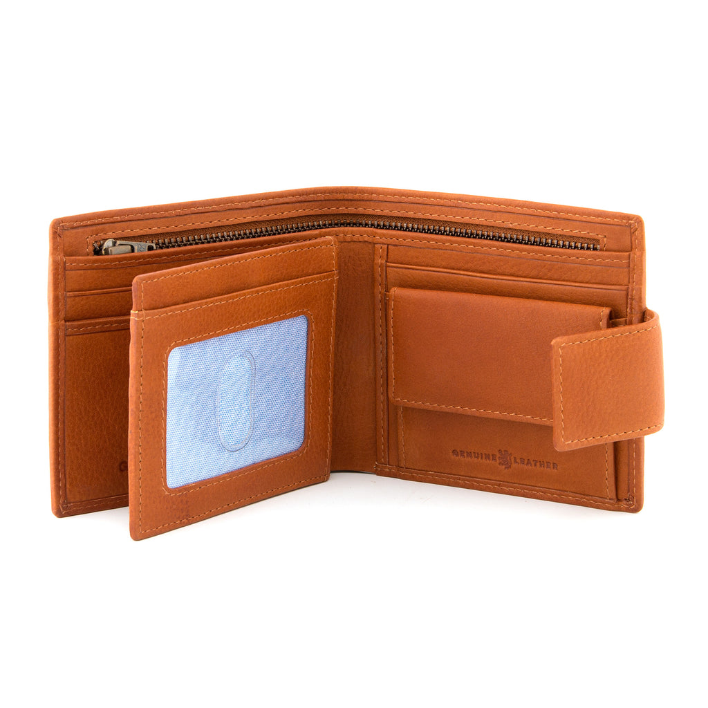 Tan Leather Large Capacity Wallet With Tab By Gryphen