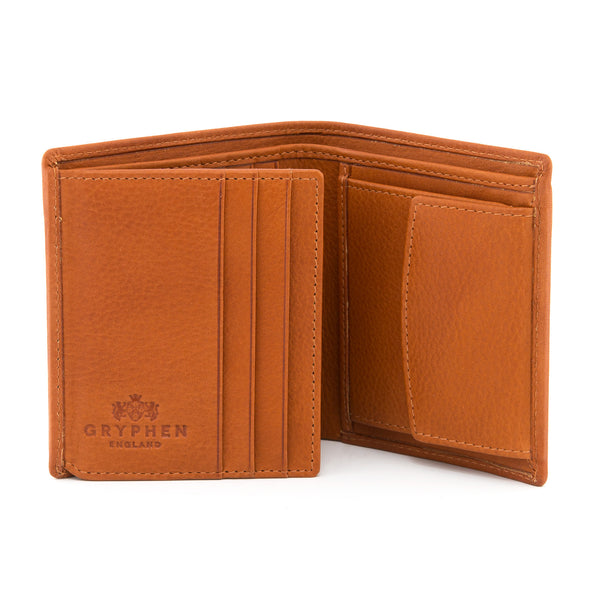 Tan Leather Coin Pocket Wallet By Gryphen