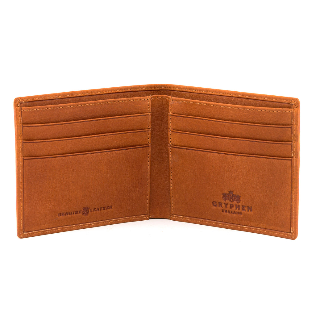 Tan Leather Slim Wallet By Gryphen