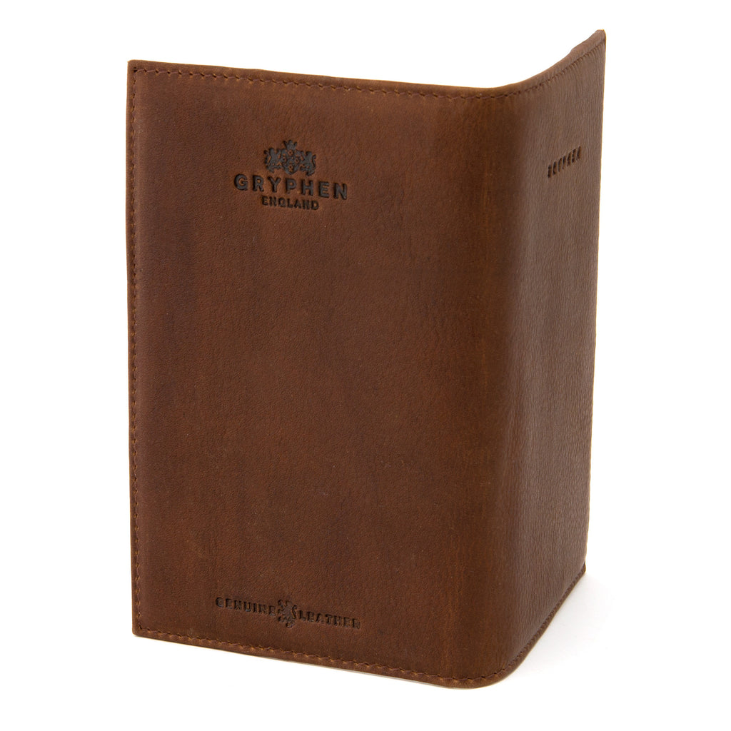Brown Leather Golf Scorecard Holder by Gryphen