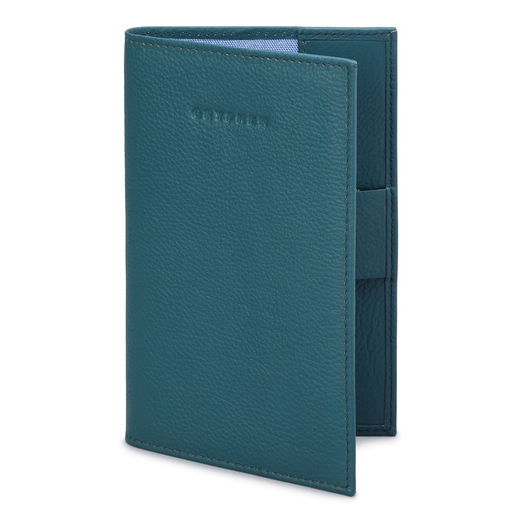 Teal Leather Golf Scorecard Holder By Gryphen - Yoshi