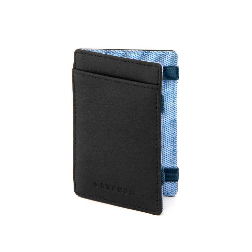 Black Leather Magic Credit Card Wallet by Gryphen