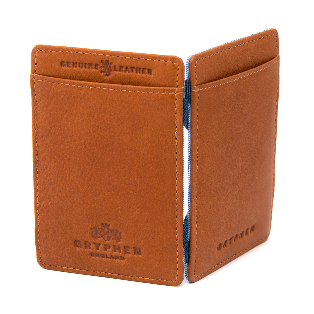 Tan Leather Magic Credit Card Wallet by Gryphen