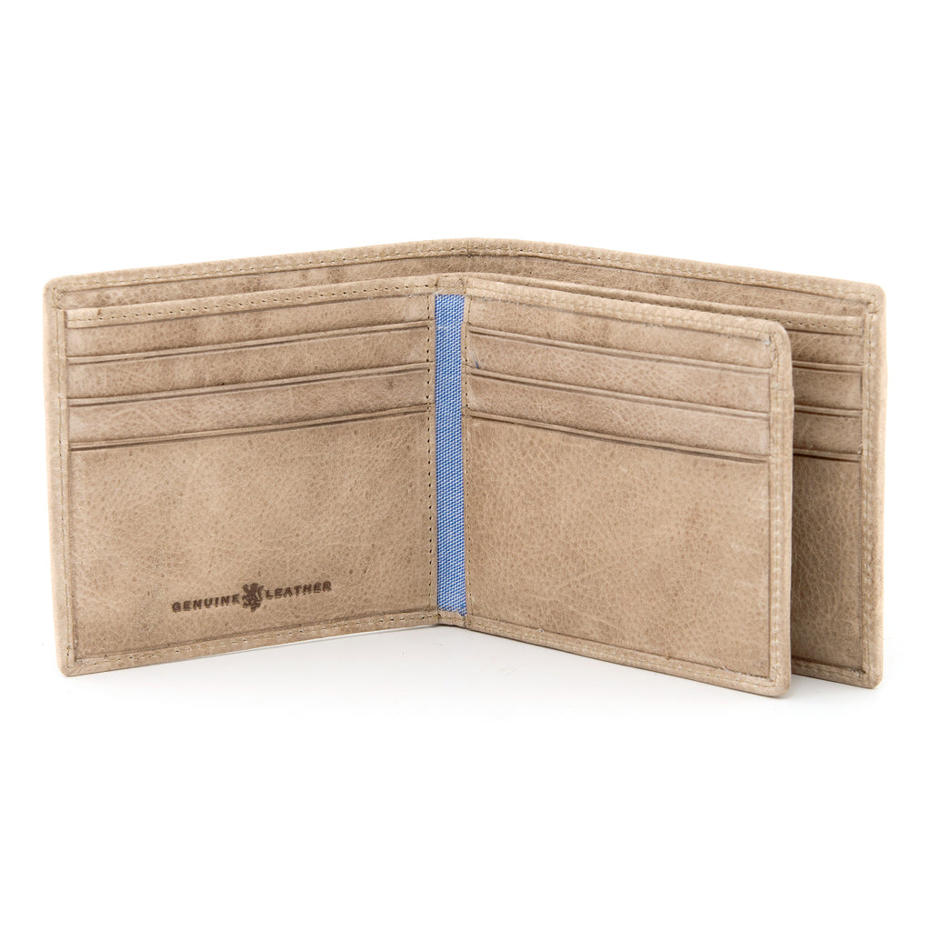 Two Fold Stone Leather Wallet with Swing by Gryphen
