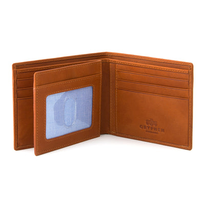 Tan Leather Extra Capacity Wallet By Gryphen - Yoshi