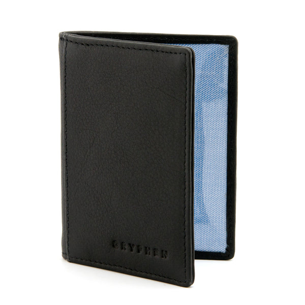 Black Leather Oyster Card Holder By Gryphen