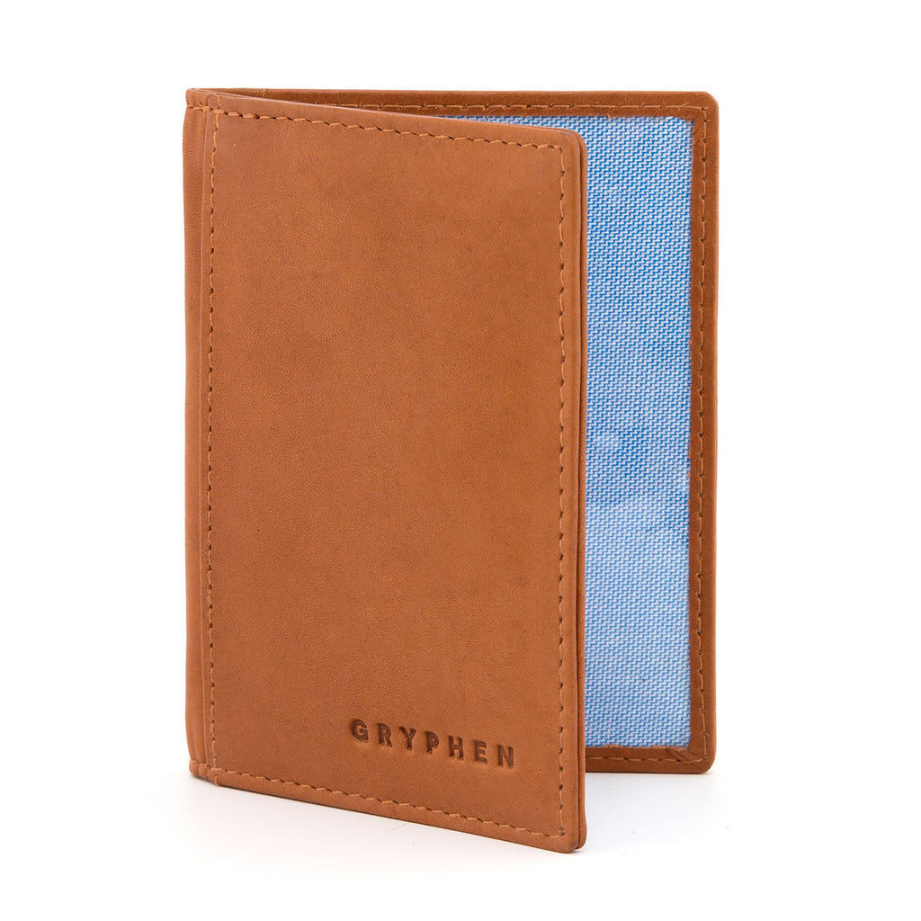 Tan Leather Oyster Card Holder By Gryphen - Yoshi