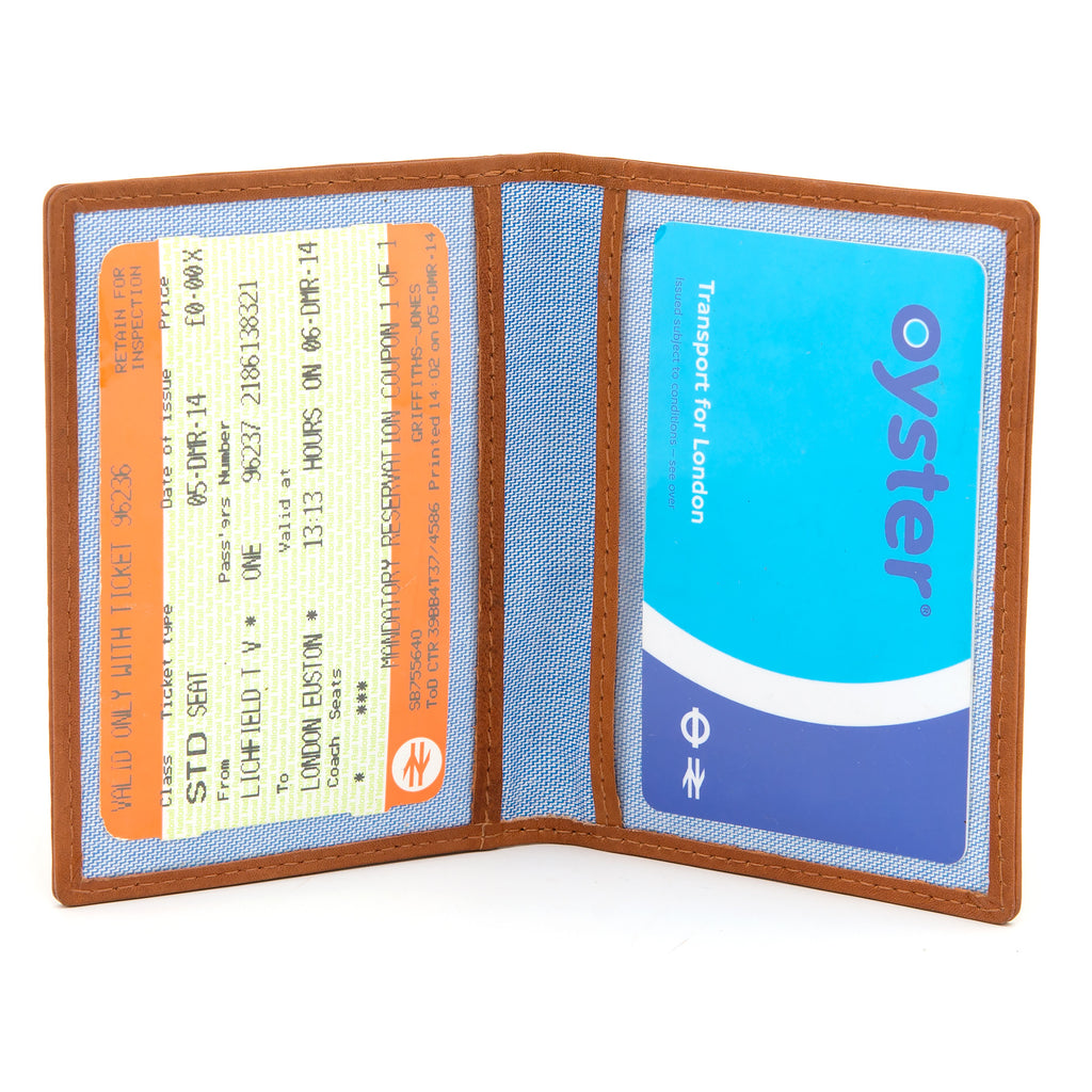 Gryphen Tan Leather Oyster Card Holder c