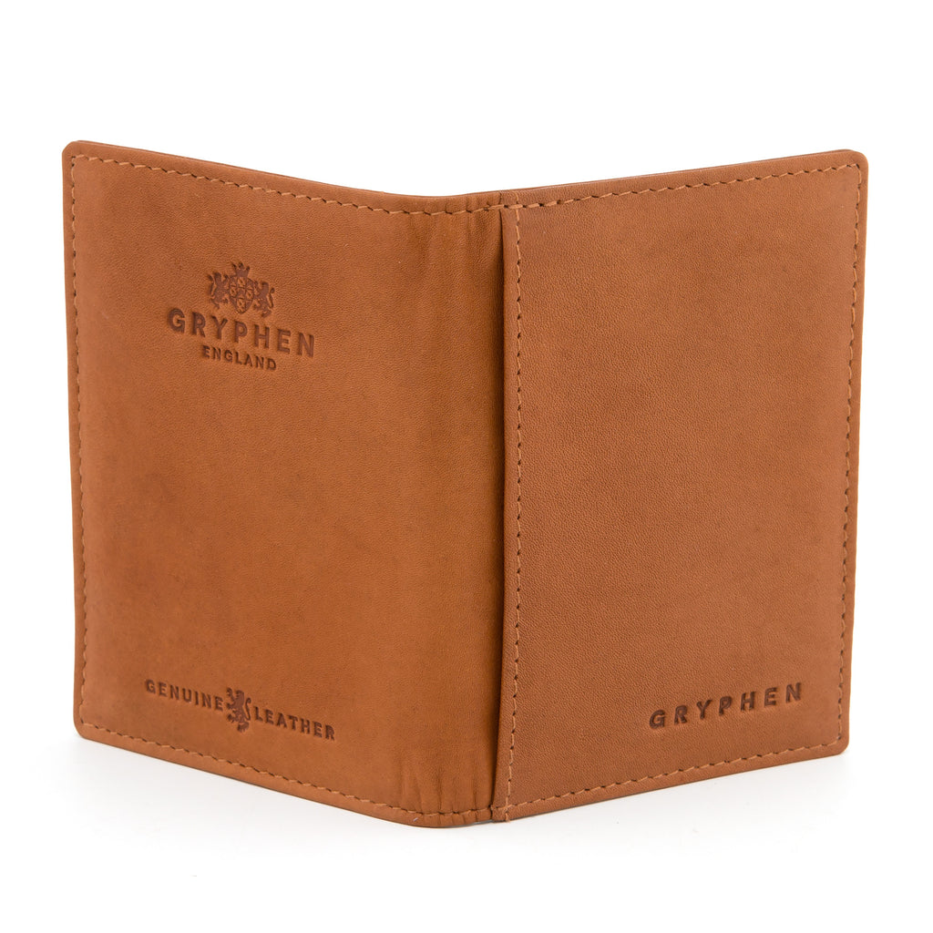 Gryphen Tan Leather Oyster Card Holder d