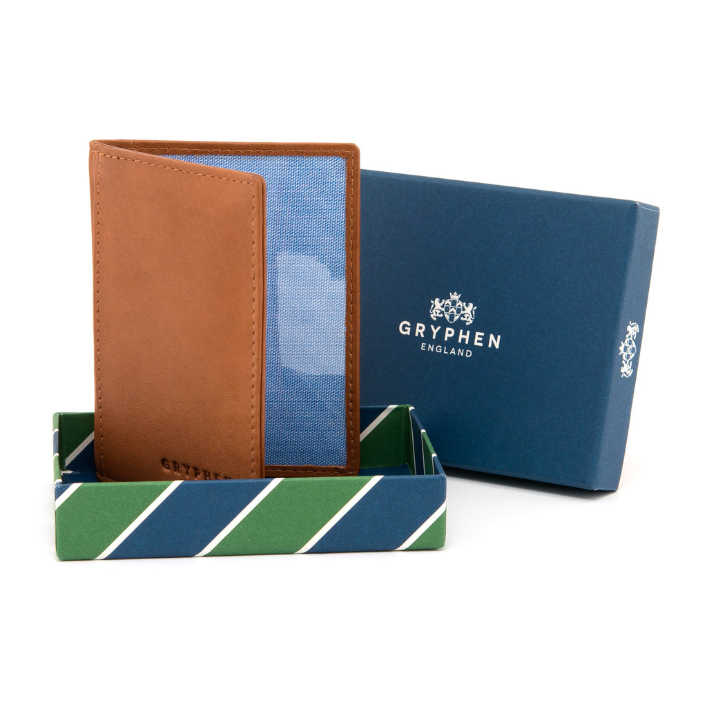 Gryphen Tan Leather Oyster Card Holder e