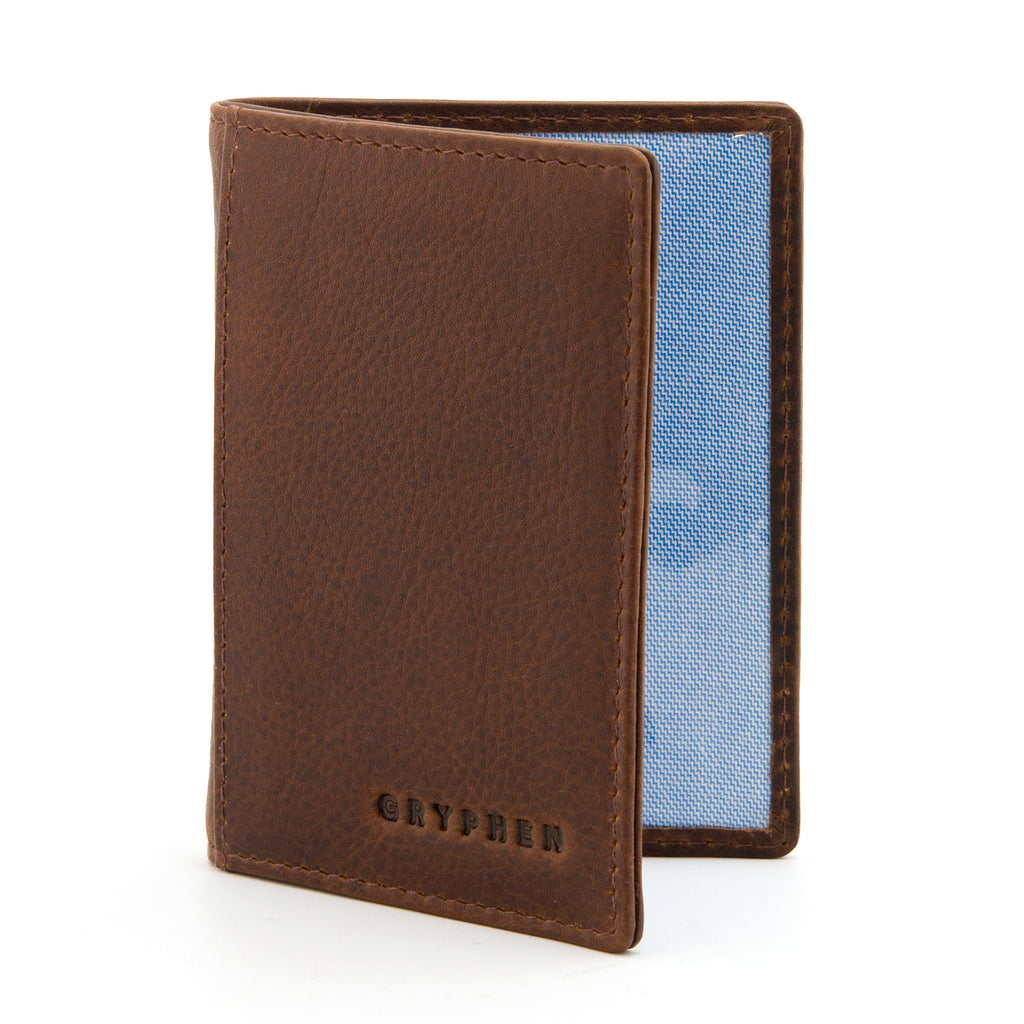 Brown Leather Oyster Card Holder By Gryphen