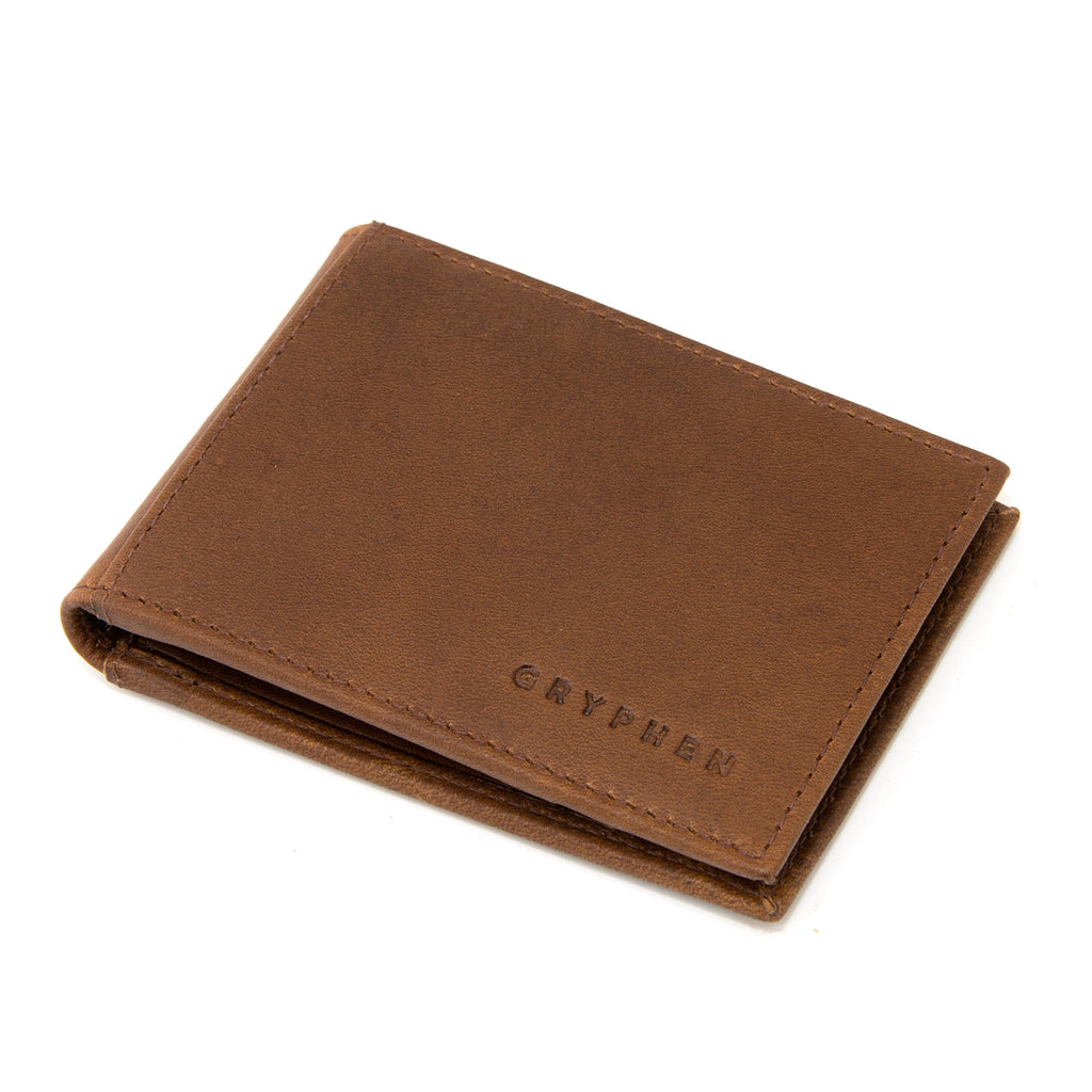 Brown Leather Money Clip Wallet By Gryphen