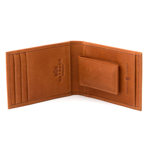 Tan Leather Money Clip Wallet By Gryphen