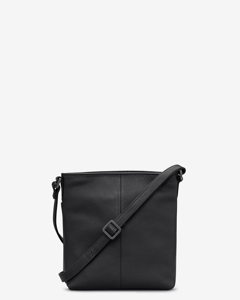 Garrick Black Leather Cross Body Bag -  - Yoshi