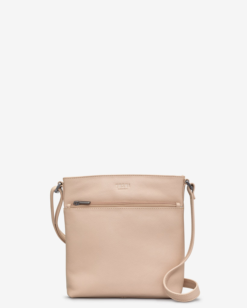 Garrick Frappe Leather Cross Body Bag - Frappe - Yoshi