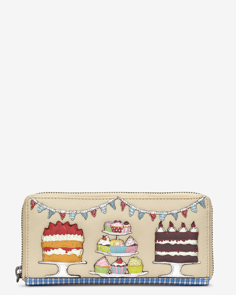 Goodness Bake Cream Leather Baxter Purse - Cream - Yoshi