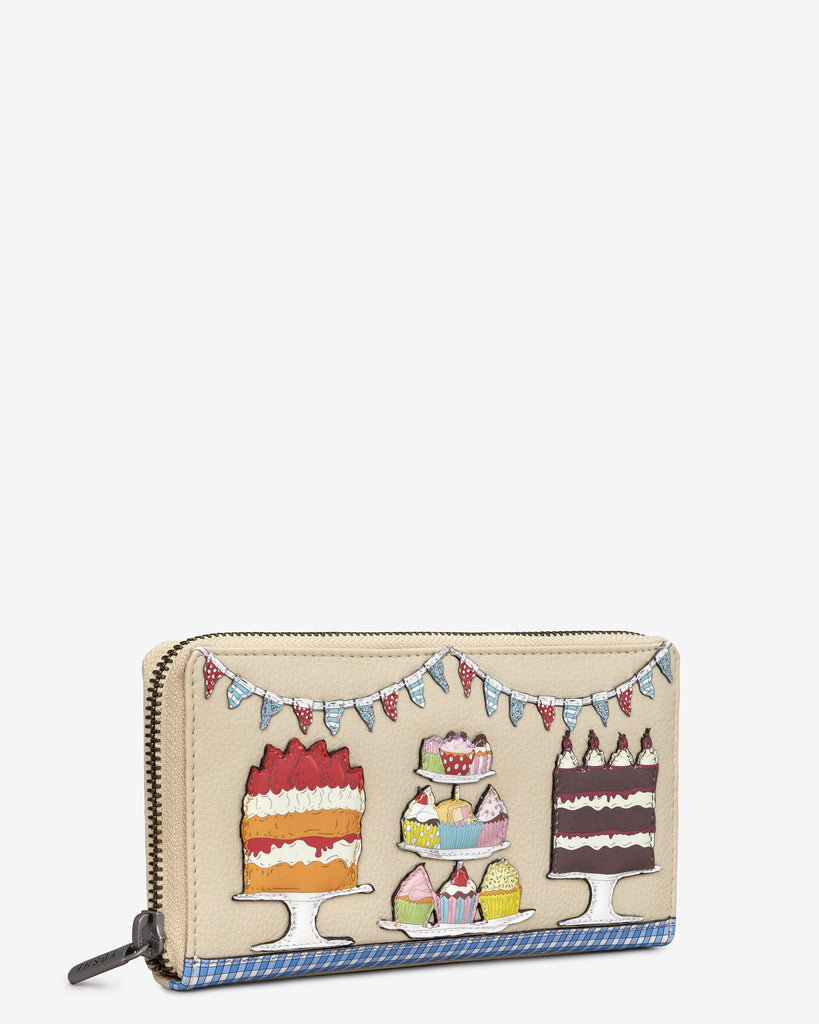 Goodness Bake Cream Leather Baxter Purse -  - Yoshi
