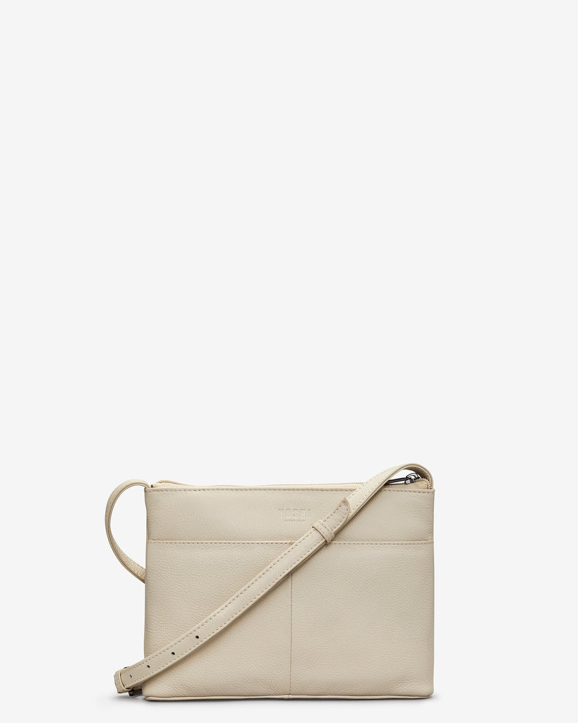 Goodness Bake Cream Leather Cross Body Bag -  - Yoshi
