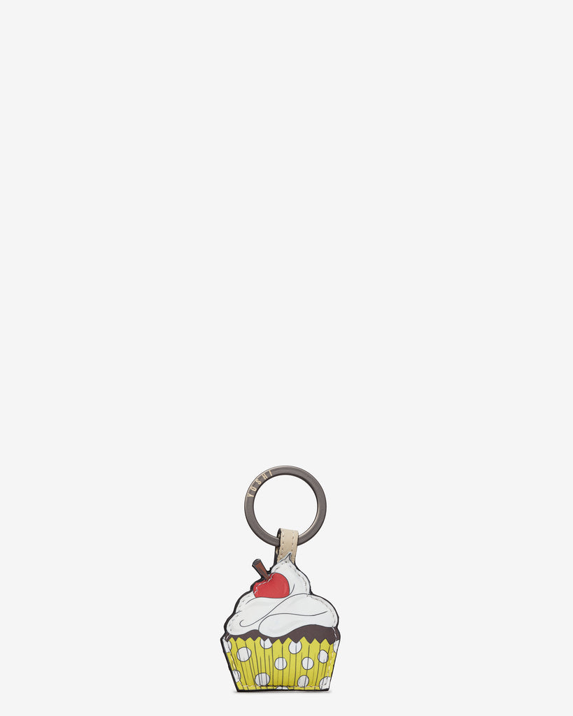 Goodness Bake Cream Leather Keyring - Cream - Yoshi