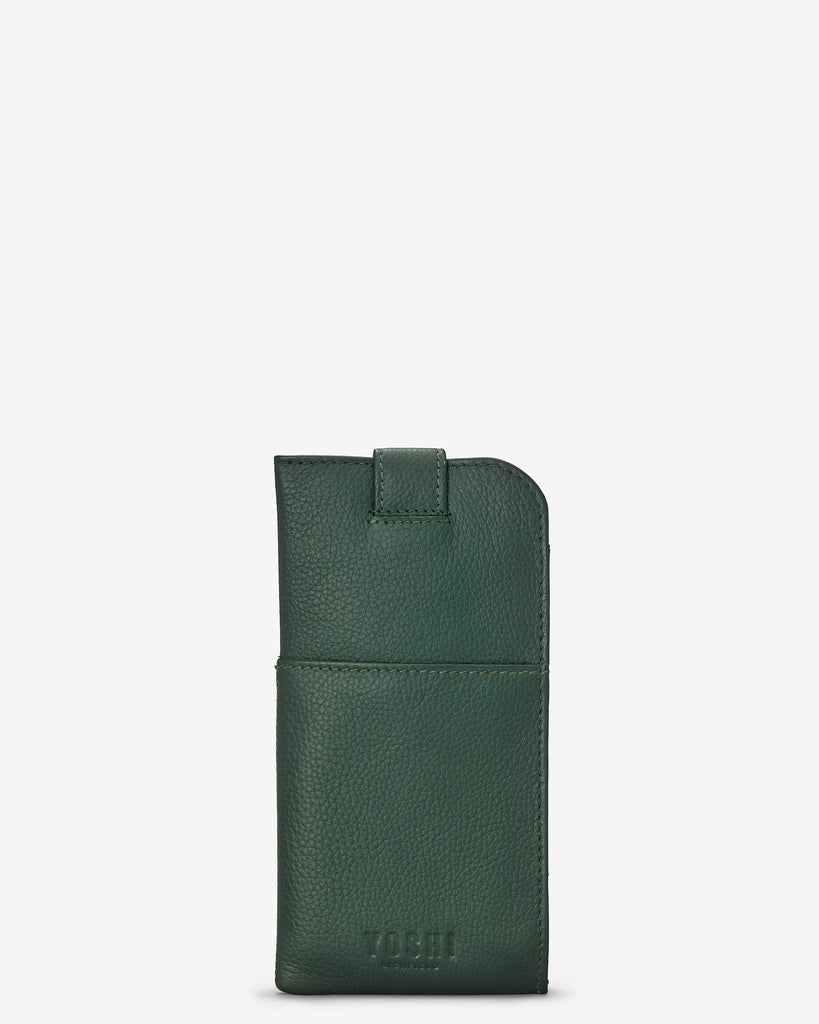 Green Fingers Bookworm Leather Chilton Glasses Case - Yoshi