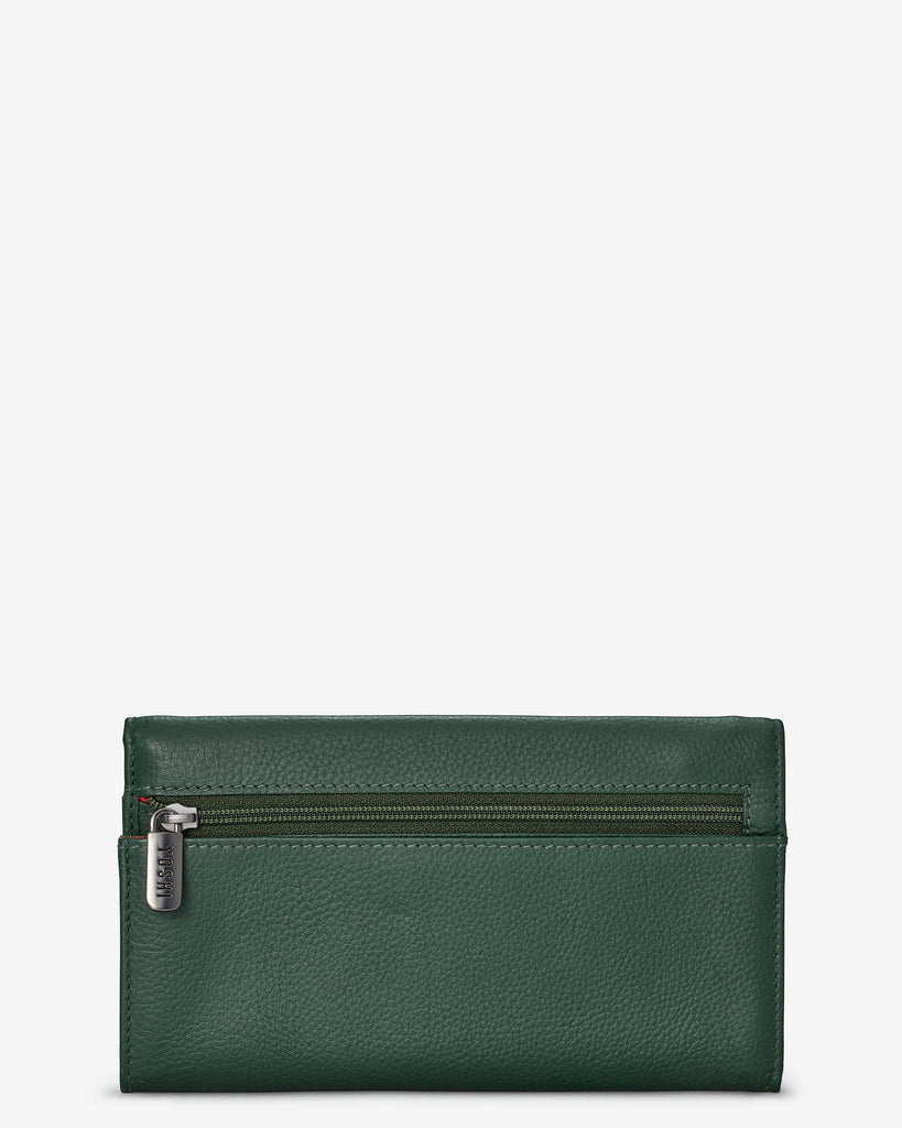 Green Fingers Bookworm Leather Hudson Purse - Yoshi