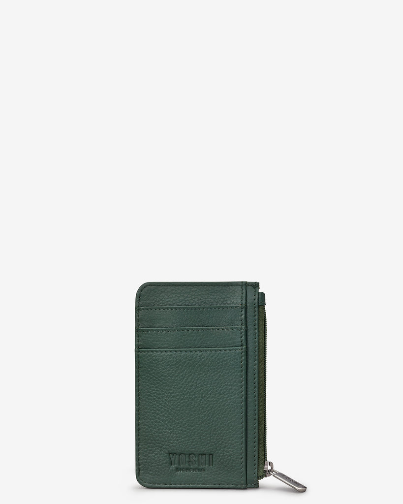 Green Fingers Bookworm Leather Morton Card Holder - Yoshi