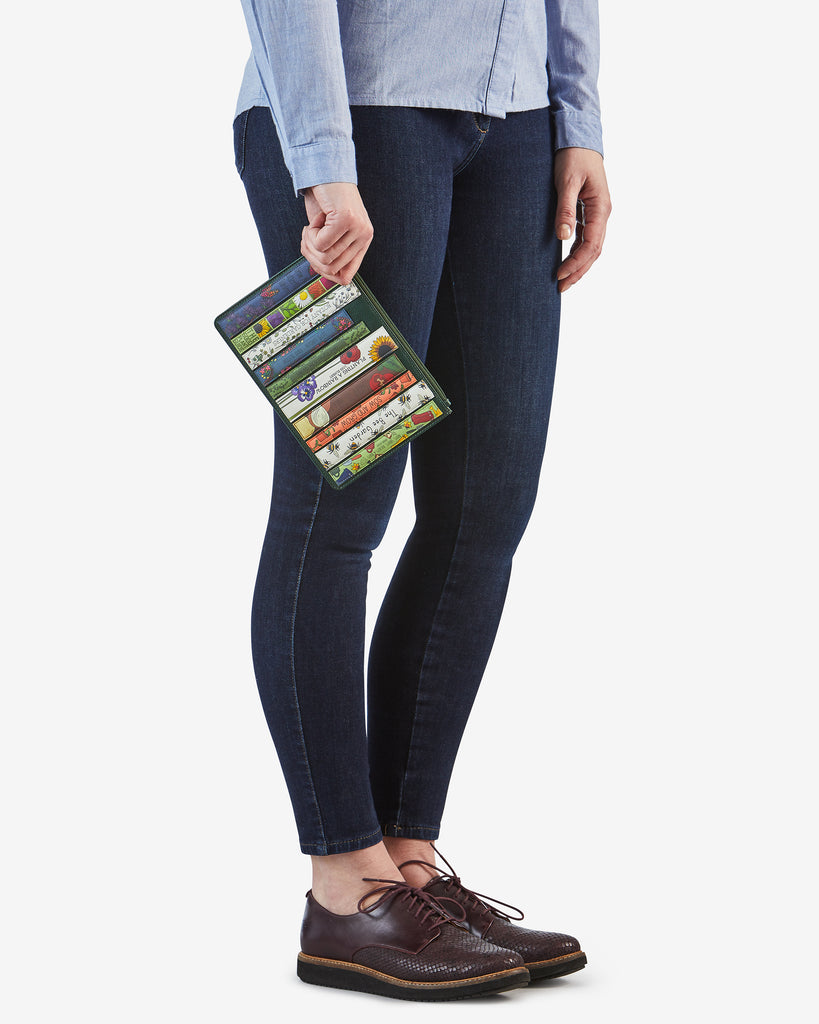 Green Fingers Bookworm Leather Brooklyn Pouch - Yoshi