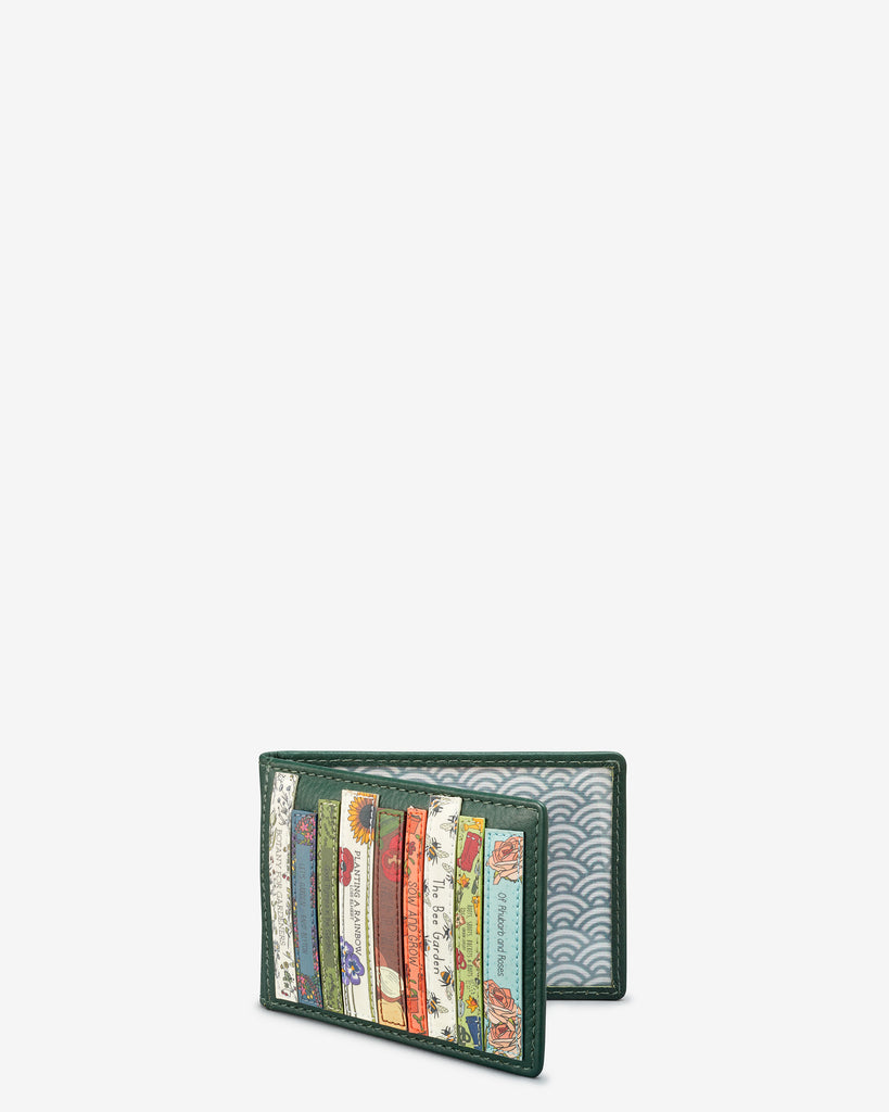 Green Fingers Bookworm Leather Travel Pass Holder - Yoshi
