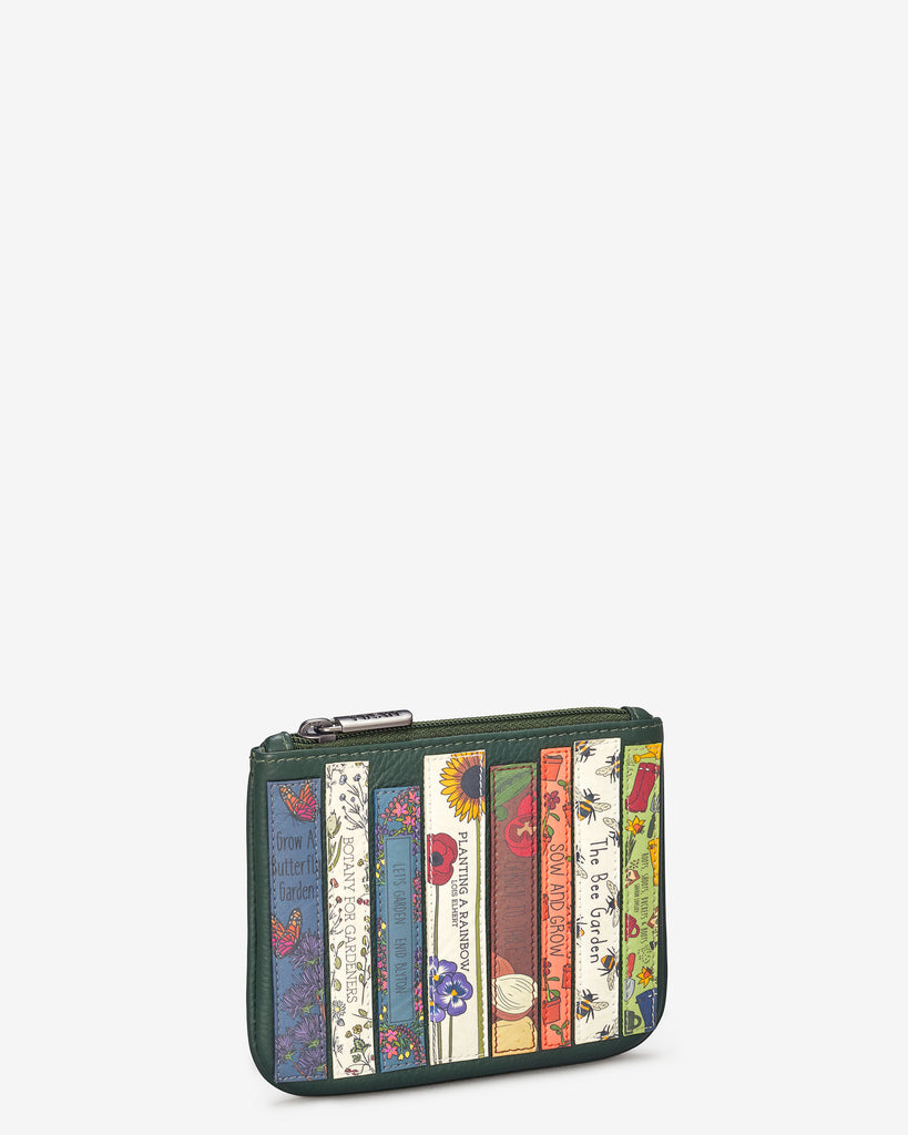 Green Fingers Bookworm Leather Caxton Purse - Yoshi