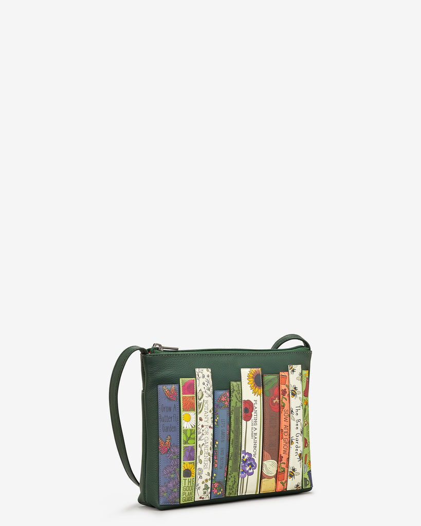 Green Fingers Bookworm Leather Cross Body Bag - Yoshi