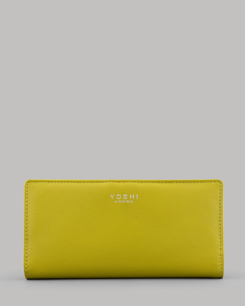 Halli Avocado Green Leather Flap Over Ladies  Purse By Yoshi A