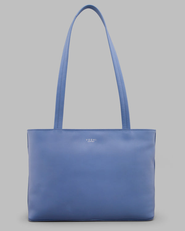 Hambro Cornflower Blue Leather Shoulder Bag A