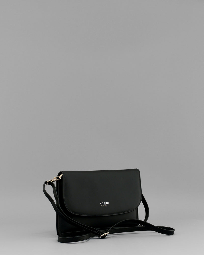 Hampstead Black Leather Clutch Handbag by Yoshi C