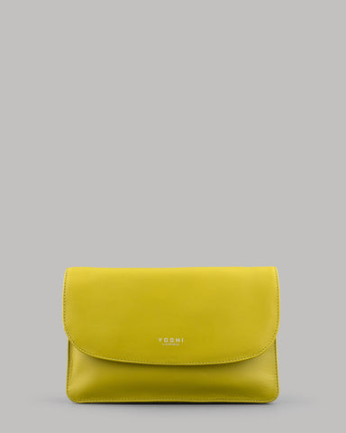 Hampstead Ladies Avocado Green Leather Clutch Bag by Yoshi