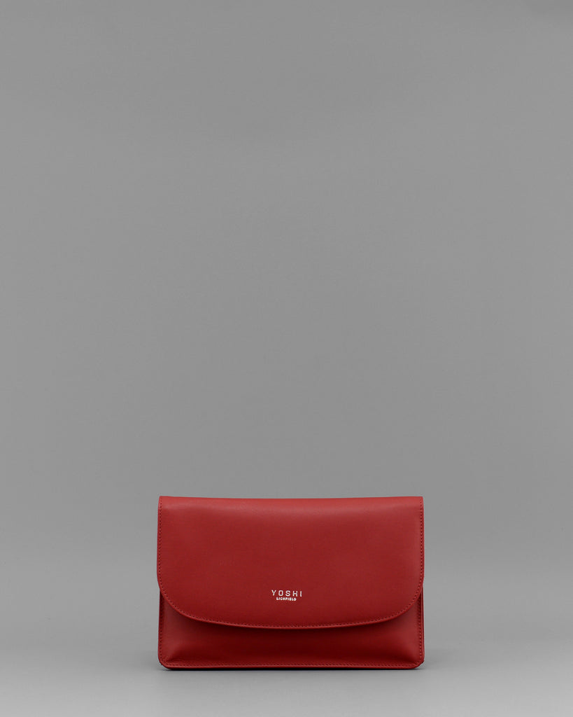 Hampstead Red Leather Clutch Handbag by Yoshi A