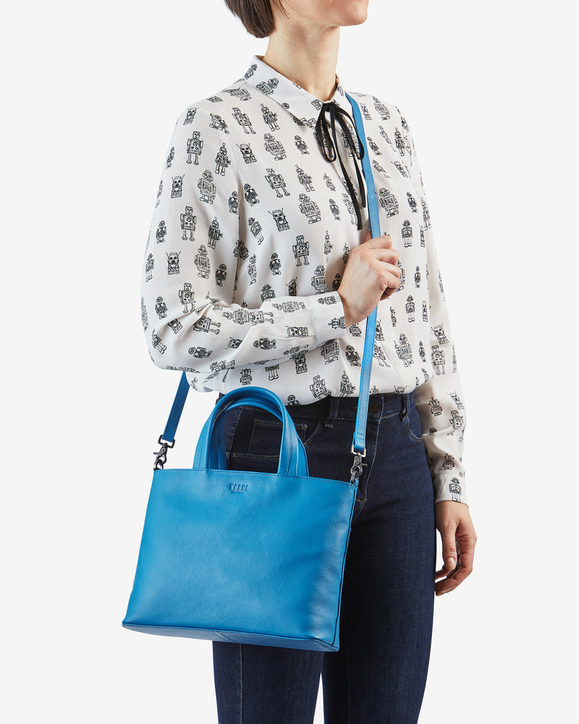 Hampton Cobalt Blue Leather Multiway Grab Bag - Yoshi