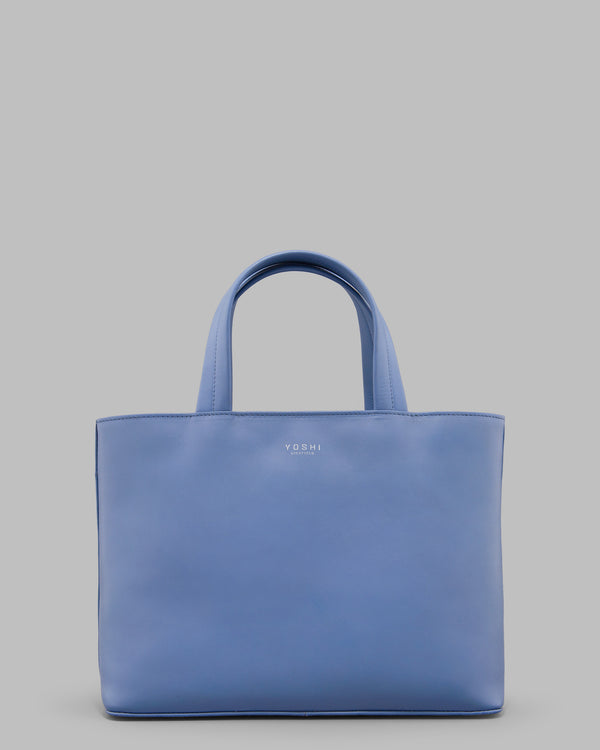Hampton Cornflower Blue Leather Grab Bag A