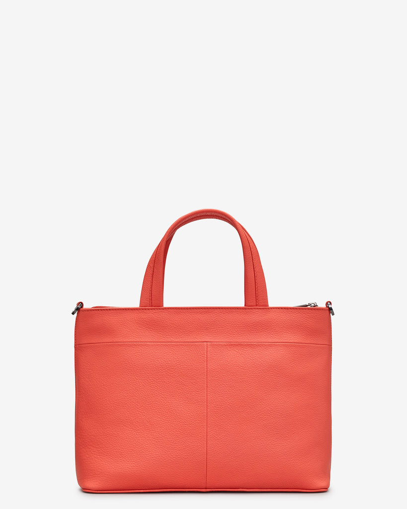 Hampton Coral Leather Multiway Grab Bag -  - Yoshi