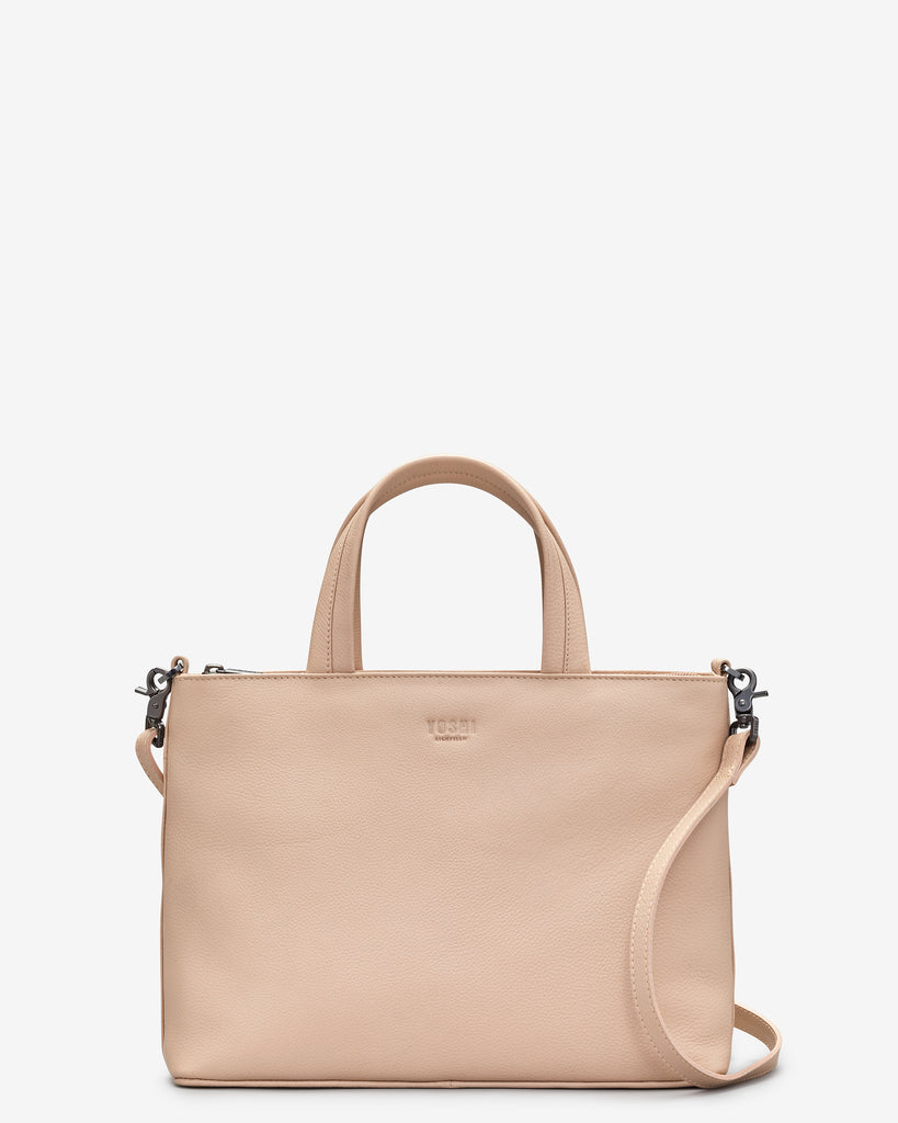Hampton Frappe Leather Multiway Grab Bag - Frappe - Yoshi