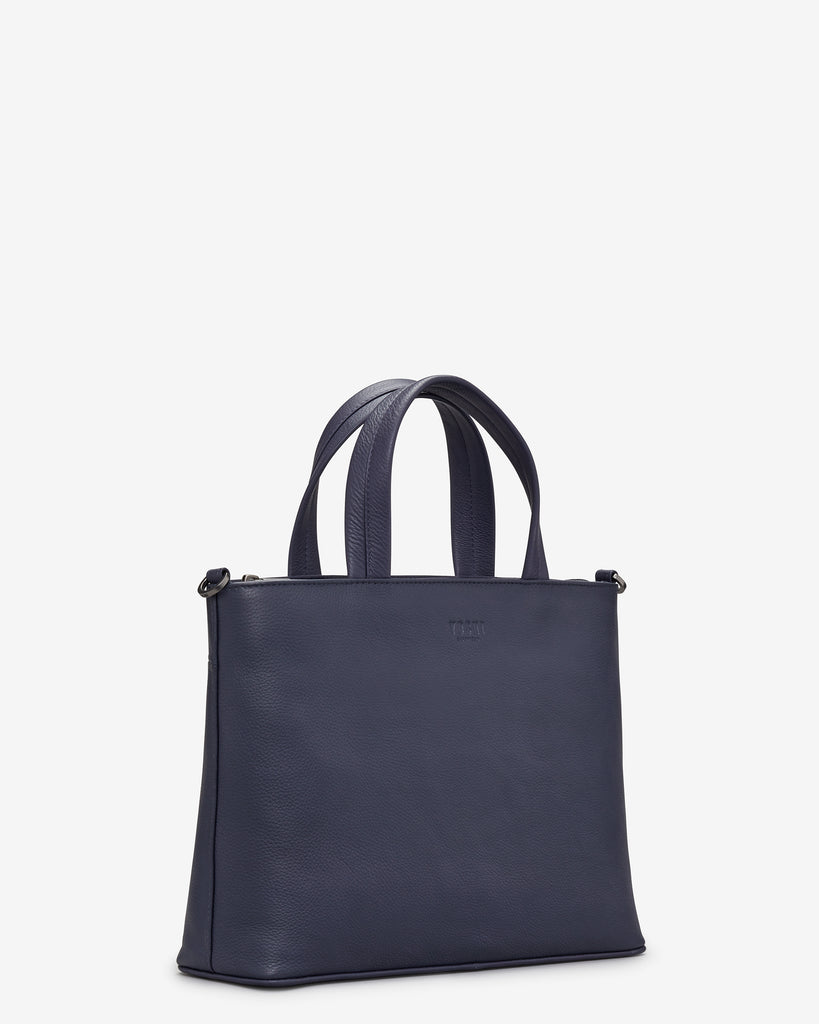 Hampton Navy Leather Multiway Grab Bag -  - Yoshi