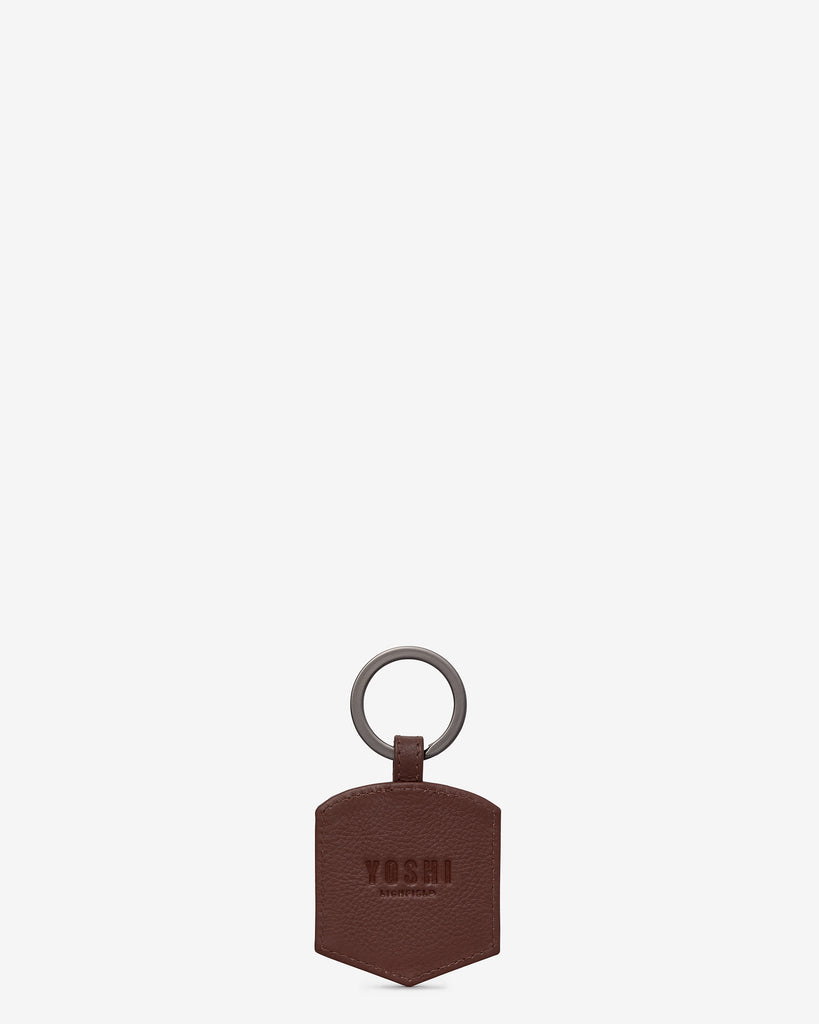 Happy Travels Jasper National Park Brown Leather Keyring -  - Yoshi