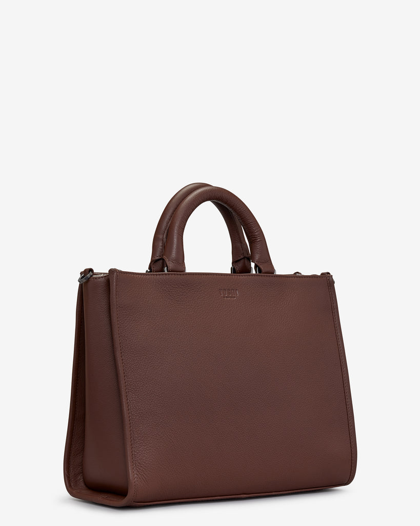 Harwood Brown Leather Tote Bag -  - Yoshi