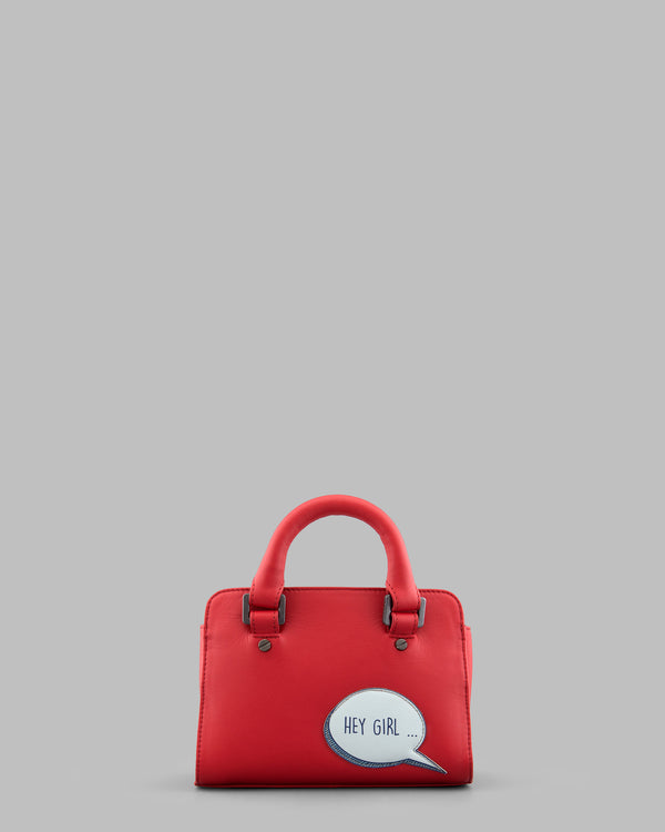Hey Girl Gosling Red Leather Mini Grab Bag a