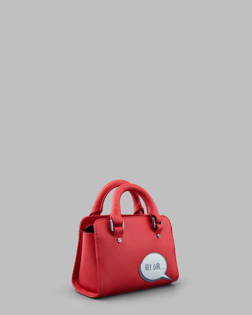 Hey Girl Gosling Red Leather Mini Grab Bag c