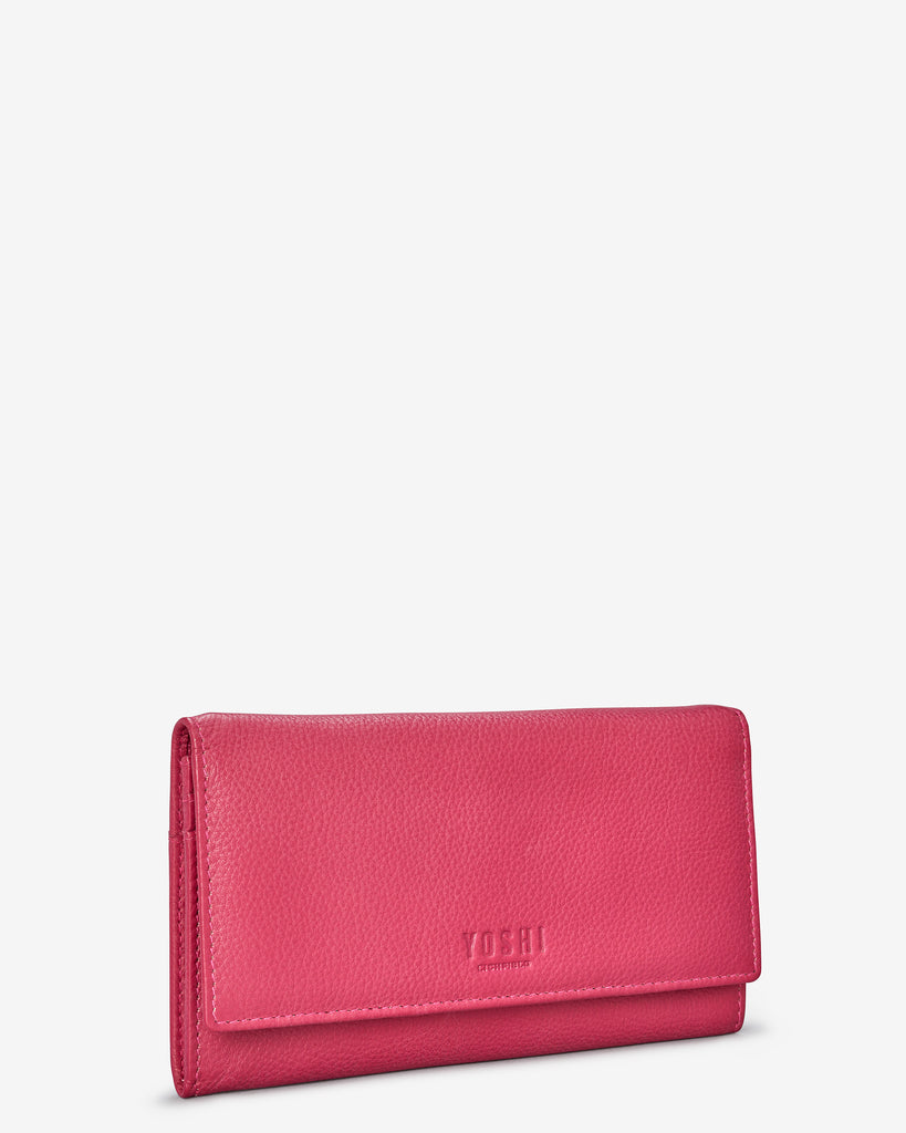 Raspberry Leather Hudson Purse - Yoshi