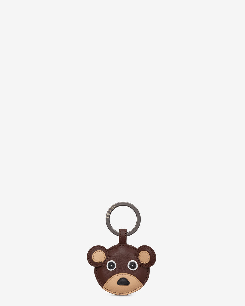 Humphrey the Bear Leather Keyring - Brown - Yoshi