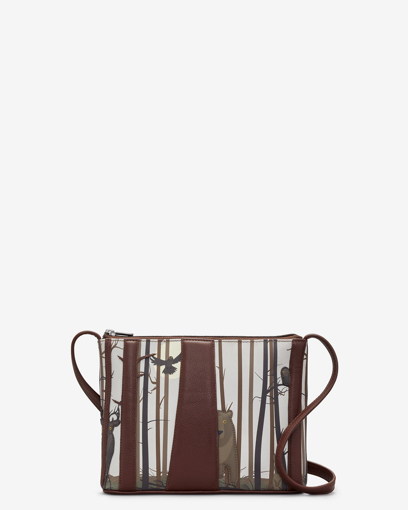 Into the Wild Brown Leather Cross Body Bag - Brown - Yoshi