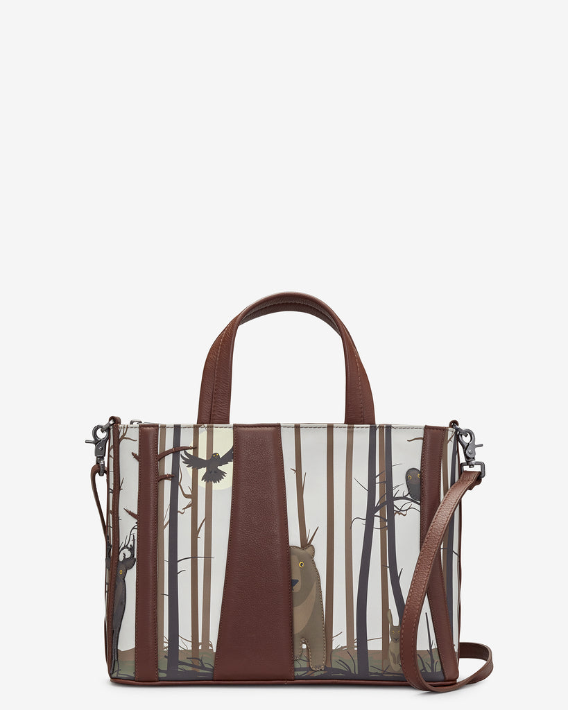 Into the Wild Brown Leather Multiway Grab Bag - Brown - Yoshi