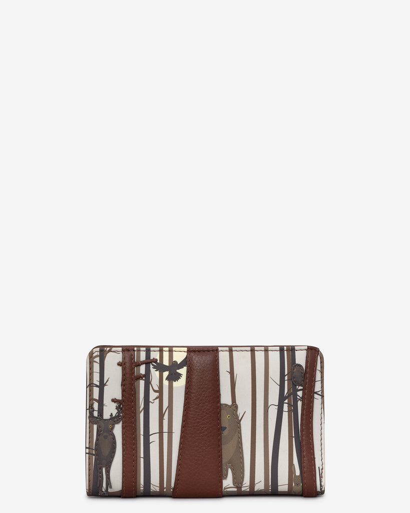 Into the Wild Brown Leather Oxford Purse - Brown - Yoshi